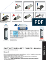 BioZone Scientific AirC PR are Owners Manual