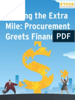Walking the Extra Mile Procurement Greets Finance