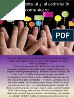 Rolul contextului și al cadrului în comunicare
