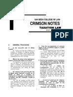 San Beda- Crimson Tax Notes