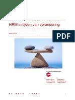 HRM in Tijden Van Verandering