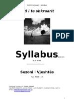 Syllabus Arti i Te Shkruarit