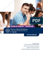 Informator 2014 - Studia II Stopnia - Wyższa Szkoła Bankowa w Opolu