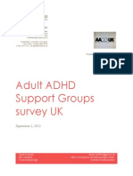 Adult ADHD UK Support Groups Survey