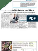 Stocchi è ufficialmente candidato - Il Resto del Carlino del 9 aprile 2014