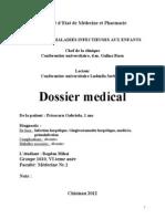 Model fisa boli infectioase copii (fr.)
