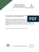 Evaluación de la calidad de los procesos del e-learning Una propuesta con nuevas dimensiones