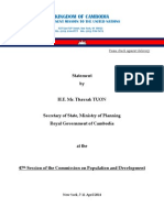 Cambodia Country Statement to 47th CPD 7-11 April 2014 Revised 2