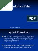 Prim and Kruskal algorithm