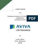 Recruitment Aviva Life Insurance