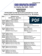 Proposed Theory Date Sheet MBA (Regular)