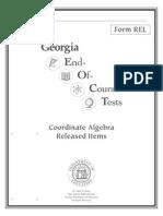 coordinate algebra released items booklet