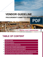 Vendor Guideline (Proccom Website)