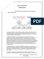 Draw the Flow Chart for Maintenance Operating Procedures