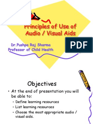 Principles of Use of Audio Visual Aids | Learning | Technology
