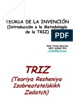 TEORÍA DE LA INVENCIÓN (Introducción a la Metodología TRIZ)