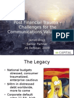 Post Financial Trauma – Challenges for the Communications Value Chain