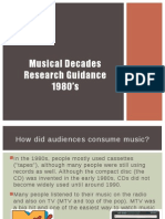 musical decades research guidance