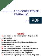 SLIDE 1 - TÉRMINO DO CONTRATO DE TRABALHO