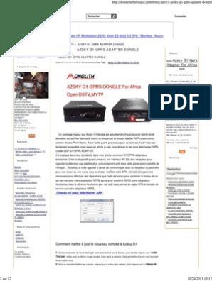 AZSKY G1 GPRS ADAPTER DONGLE pdf
