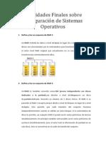 Actividades Finales sobre configuración de Sistemas Operativos