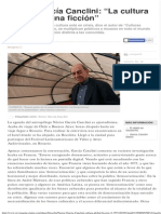 """Néstor García Canclini_ """"La cultura global fue una ficción"""""""