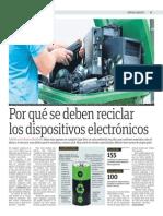 Por que se deben reciclar los dispositivos electrónicos