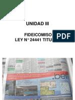 Unidad III Fideicomiso