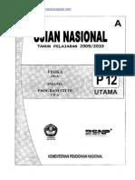 Naskah Soal UN Fisika SMA 2010 (Paket 12)