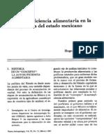 La autosuficiencia alimentaria en la política del estado mexicano.