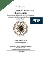 Memoria Operativa, Inteligencia y Razonamiento