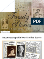 Reconnect to Your Family Stories with Newspapers