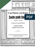 Weber - Sonata Per Pianoforte in La b Mgg - Op. 69