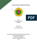 Kriteria Diagnosis Pasien Dengue Dan Kriteria Pulang