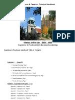 2013- 2015 capstone  practicum handbook