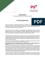 Déclaration  politique PS SPD