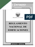Reglamneto Nacional de Edificaciones