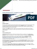 Instala Windows XP_ Tu sistema en una memoria Flash USB · pcactual.com en español · Paso a paso