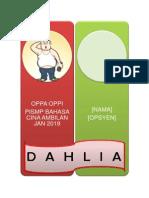 Biodata Penghuni - Dahlia
