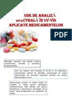 METODE DE ANALIZĂ SPECTRALĂ ÎN UV-VIS APLICATE MEDICAMENTELOR
