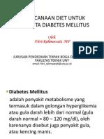 Praktik Diet - Diet Diabetes Mellitus