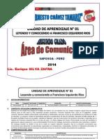 UNIDAD DE APRENDIZAJE SEGÚN RUTAS-2014