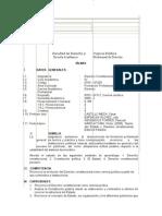 Silabo de Derecho Constitucional IV Ciclo - Uap