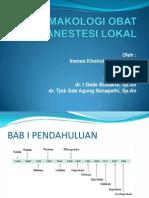Farmakologi Obat Anestesi Lokal