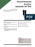 Honeywell Braukmann EA122A Air Release Vent