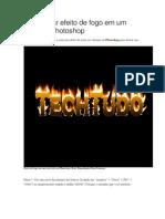 Como Criar Efeito de Fogo Em Um Texto No Photoshop
