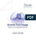 Acronis True Image Home 2010 Netbook Edition User Guide