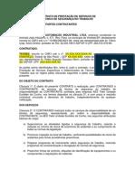 Contrato Prestação de Serviço de Técnico de Segurança