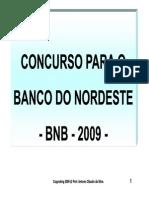 banco do nordeste - bnb - concurso 2010 - apostila conhecimentos bancários