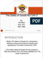 Unit 3 Sale of Good Act
